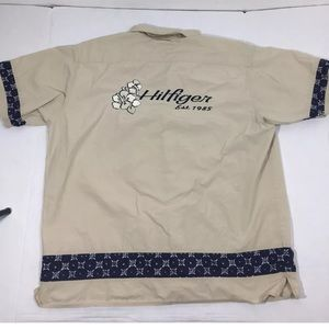 Vintage Tommy Hilfiger Spell Out Hawaiian Shirt XL
